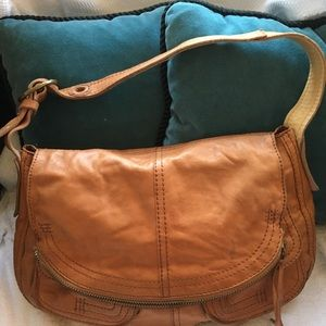 Lucky Brand Bags - Lucky Brand Leather Fold-Over Shoulder Bag